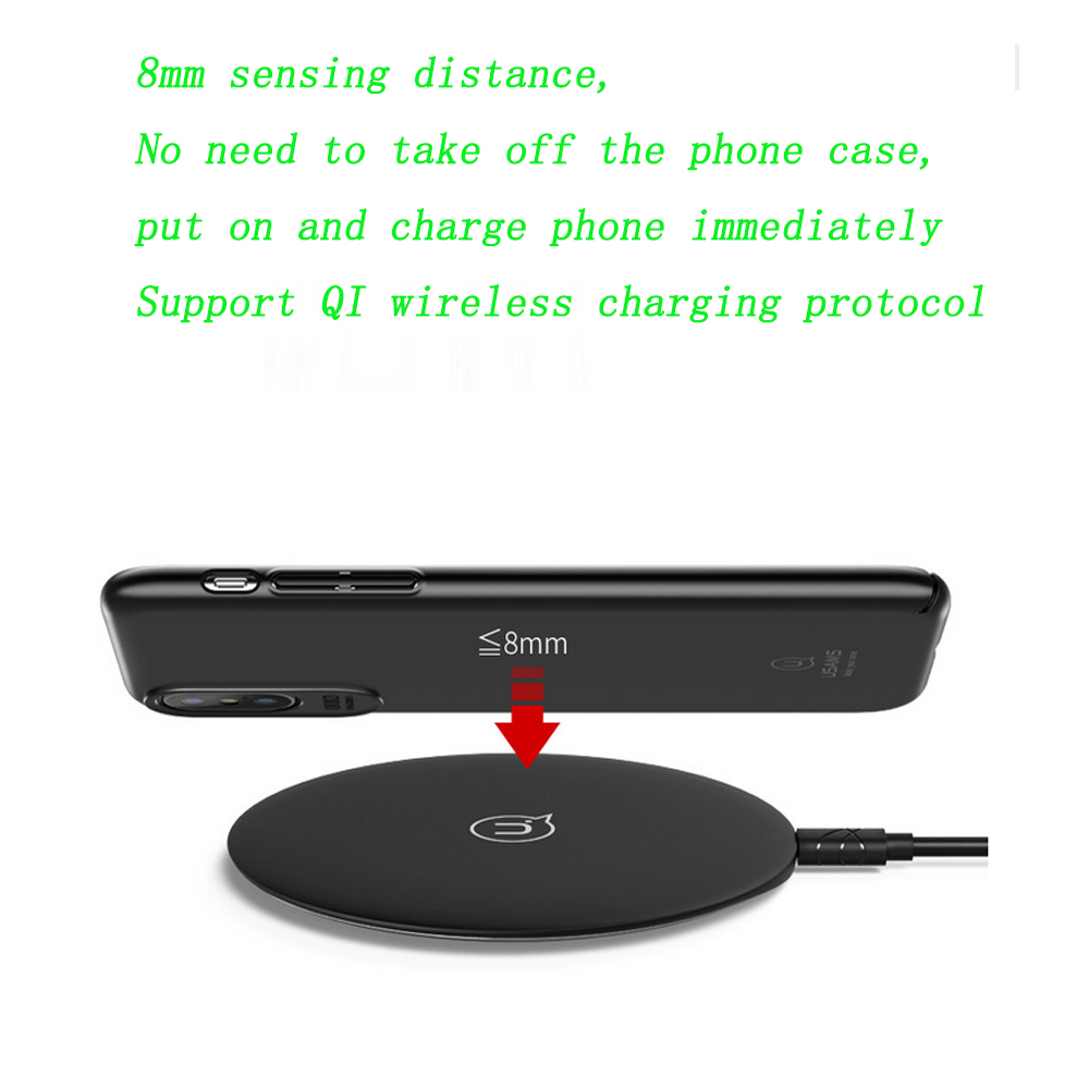 Qi Wireless Charger 10W , SKW Wireless Charger LED Charging Pad For Samsung Galaxy S8 S7 S8 Plus Note 8 For iPhone X 10 8