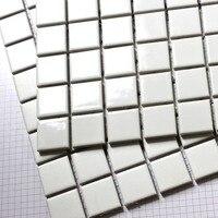 Square White Ceramic Mosaic Tiles Kitchen Backsplash Wall Bathroom Wall And Floor Tiles Matt And Glossy