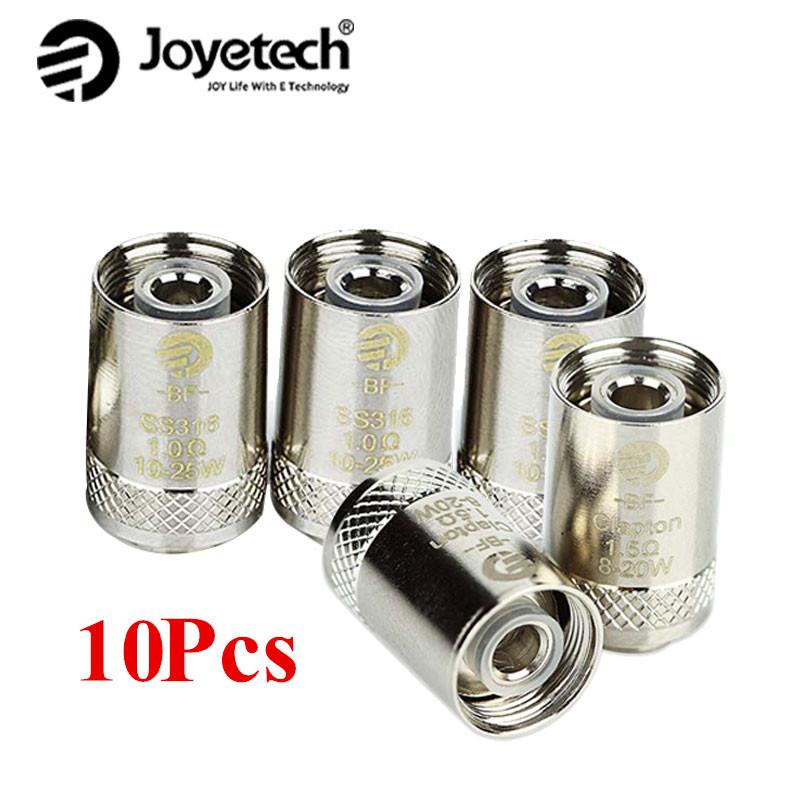 10Pcs Joyetech EGO AIO Coil Cubis BF Coil 0.5ohm/0.6ohm /0.2ohm/1ohm/1.5ohm SS316 Coil for CUBIS/ EGO AIO/ Cuboid Mini Atomizer xfkm 5pcs cubis bf ss316 coil 0 5ohm 0 6ohm 1 0ohm ego aio coils evaporators replacement head for cubis pro ego aio kit