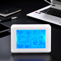 Prognoza pogody Pulpit Budzik Drzemki Charakter Sypialnia Elektroniczny Wyświetlacz Cyfrowy Zegar Kalendarz Temperatury Podświetlenie