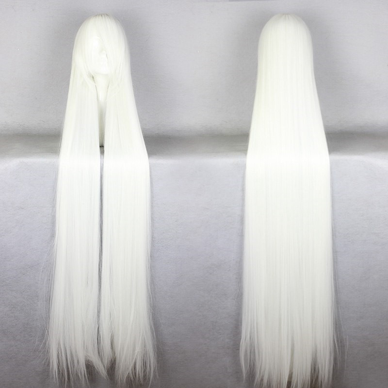 150 CM Prices Long Hair Wigs Long White Cosplay Wig Peruca Cosplay Perruque Synthetic Women On