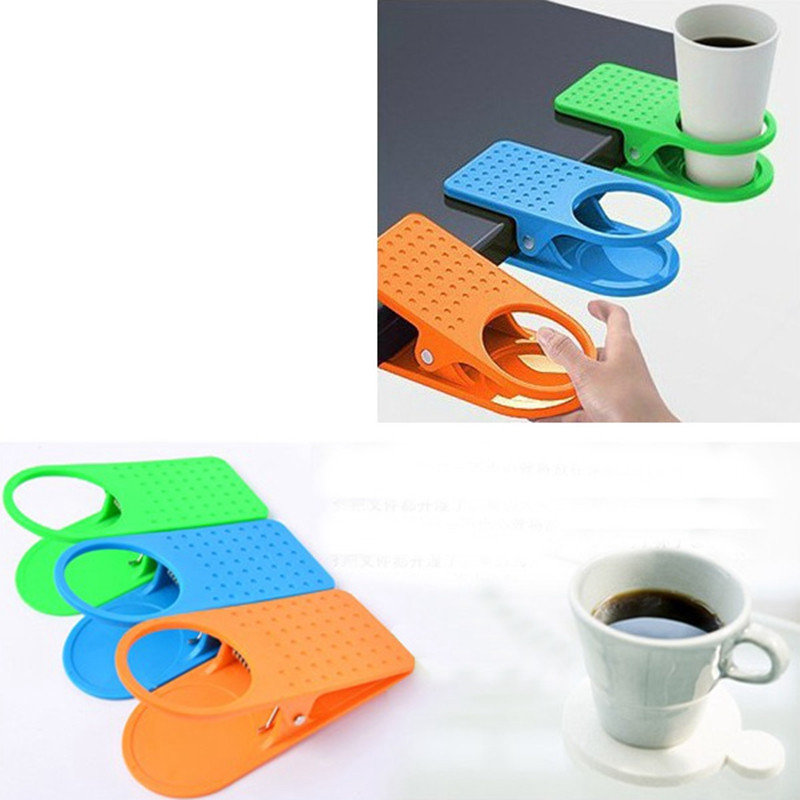 Mrosaa Table Desk Cup Holder Clip Home Office Table Desk ...