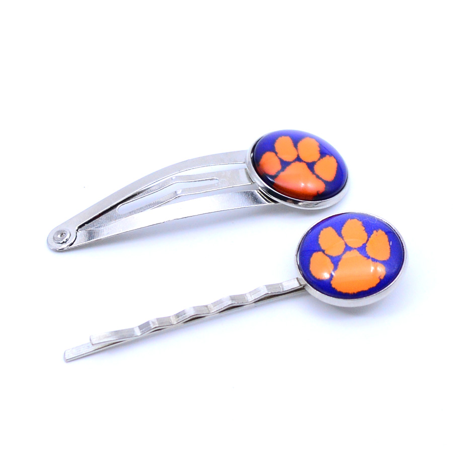 NCAA Clemson Tigers Charm Women Hairpin Girls Hair Grips Kids Hair Clips University Football Jewelry Fashion 2018