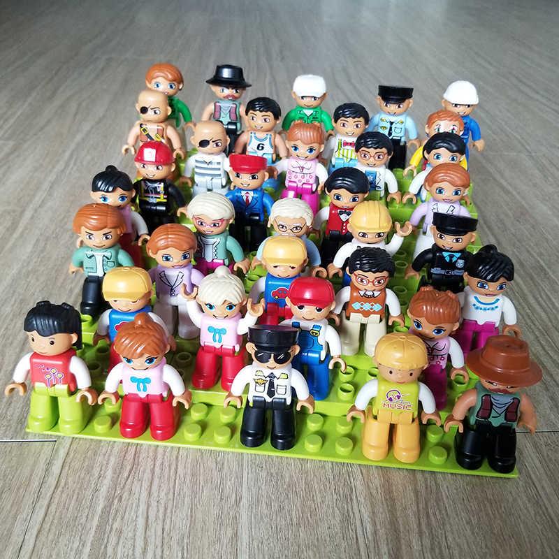 Большие кирпичи фигурки блоки совместимы с leogoing Duplo фигурки строительные блоки Развивающие игрушки для детей ребенок