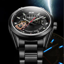 0586a9217cc 2018 marca de Luxo relógio de trítio 10Bar aço sports watch militar relógios  de pulso esqueleto relógios mecânicos automáticos s.