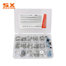 Motorbike Dirt Bike Full Fastener Set Accessories Whole Box Screw Bolt 160 PCS For KTM SX SXF EXC EXCF 125-530 2003-2018 154 pcs motorbike dirt bike full fastener set accessories whole box screw bolt for kawasaki kx kxf 125 450 2003 2018 motorcycle