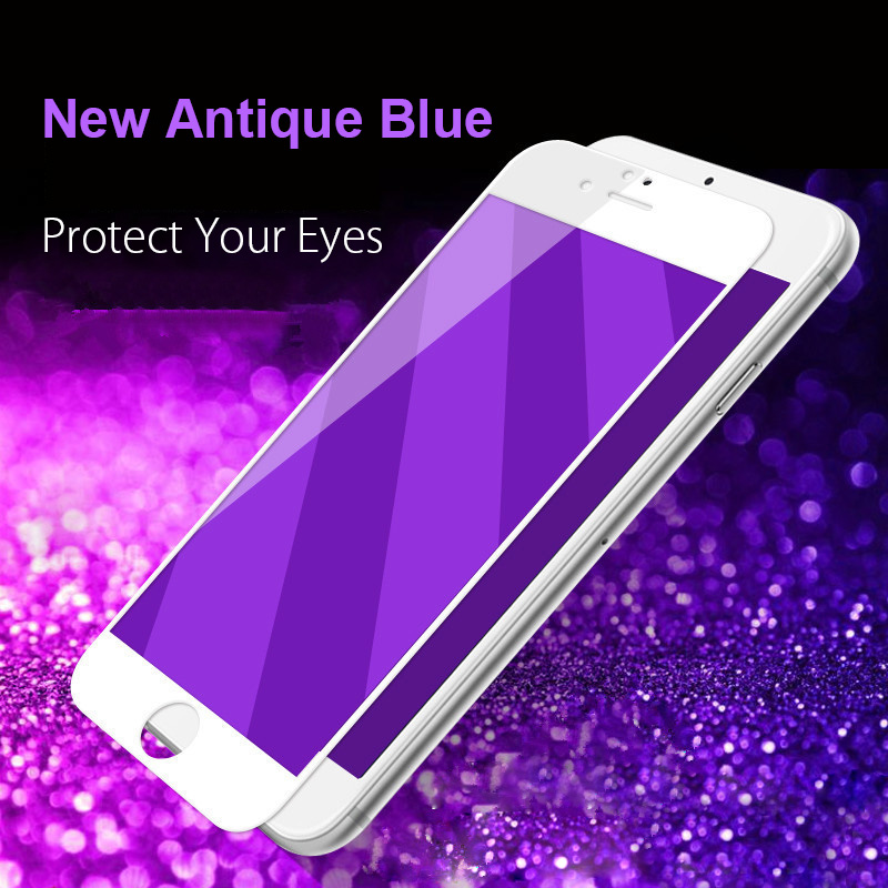 1pcs Plating Tempered Glass Case For Iphone 4s 5 5s Se 6 6s 7 8 Plus Screen Protector Purple/gold/silver/blue/black Front Film 50% OFF Phone Bags & Cases