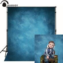 Allenjoy Fondo de fotografía de tela de vinilo, Fondo de foto azul Viejo Maestro, estudio Grunge, Photocall de boda de Color puro, fotófono
