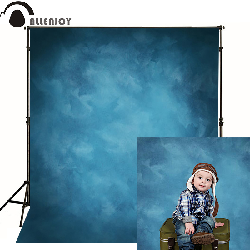 Allenjoy Vinyl Cloth Photography Backdrop Old Master Blue Photo Background Studio Solid Pure Color Wedding Photocall Photophone