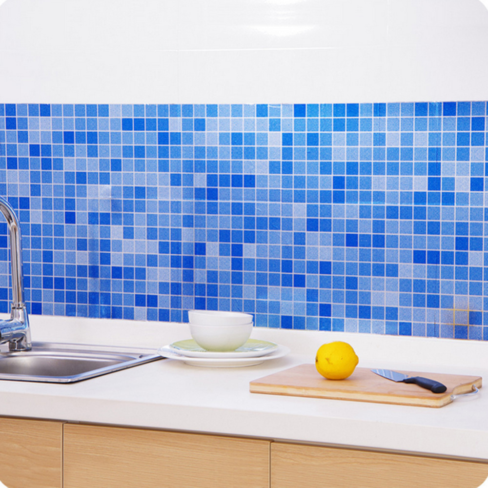 PVC Wandaufkleber Bad Wasserdichte Selbstklebende Wand Papier Küche ...