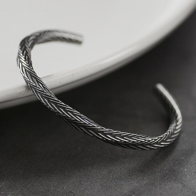 Bracelet nordique Viking motif torsadé 3