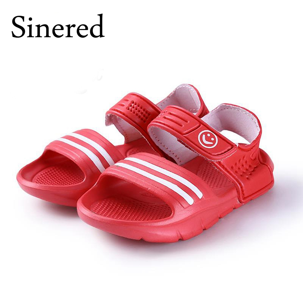 Sinered 2016 summer fashion casual non-slip resistant convenient shoes for kids 9 colors boys girls beach sandals size 24-29
