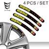 EARLFAMILY 10cm x 1cm 4pcs DOMED RIM WHEEL STICKERS STRIPE MOMO ITALY AUTO EMBLEM MOTORCYCLE TUNING C72 CAR STICKERS