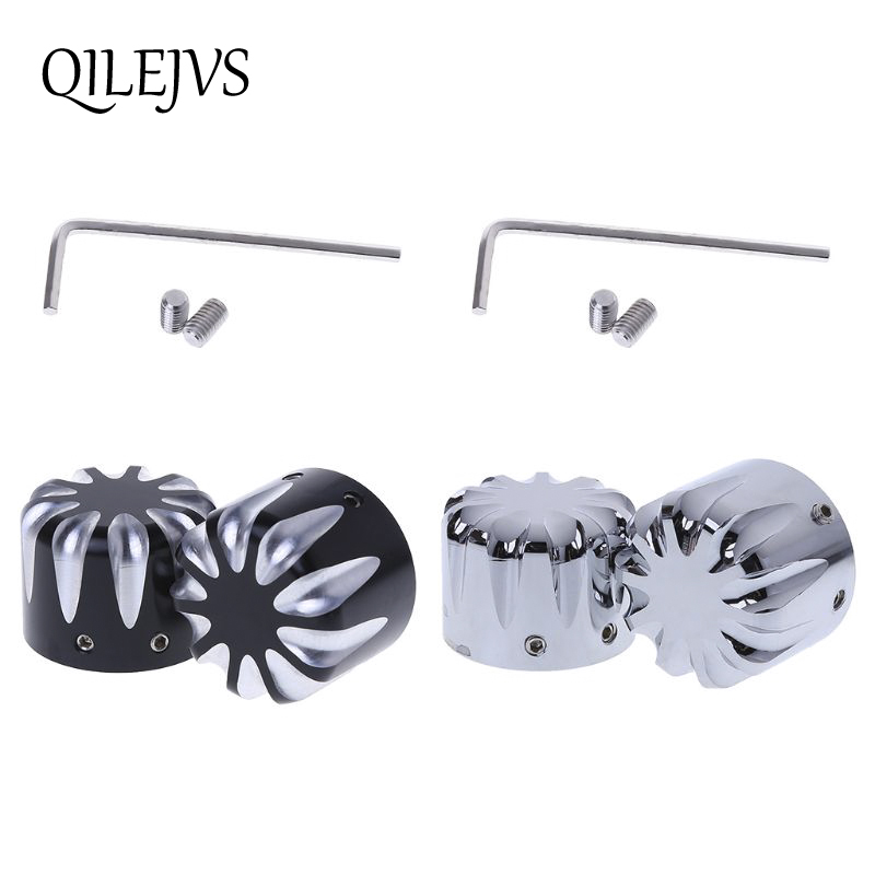 Front Axle Nut Cover Cap Bolt For Harley Touring Softail Road King Fltr Flht Flhrc Street Electra Tri Glide Sportster Dyna V-rod