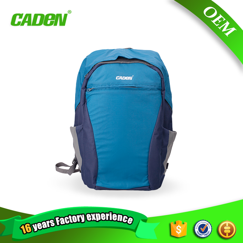 ФОТО Caden Backpacks Big Camera Double Shoulders Bags Soft Polyester Orange Blue Black Digital Camera Backpack For Canon Nikon