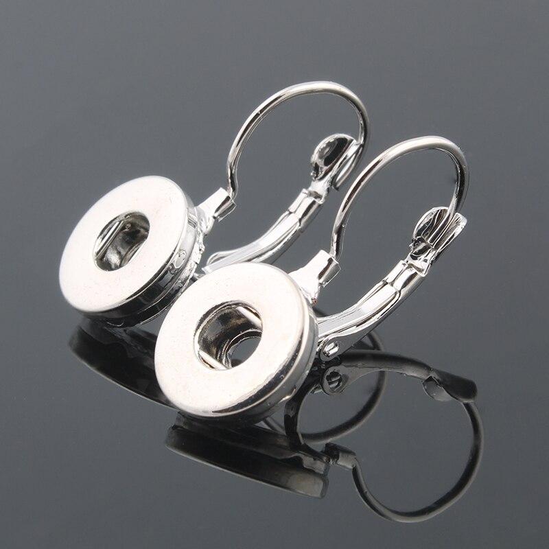 Women's Earring 12mm Xinnver Snap Button Jewelry Female Snap Earring Bohemian ZI017
