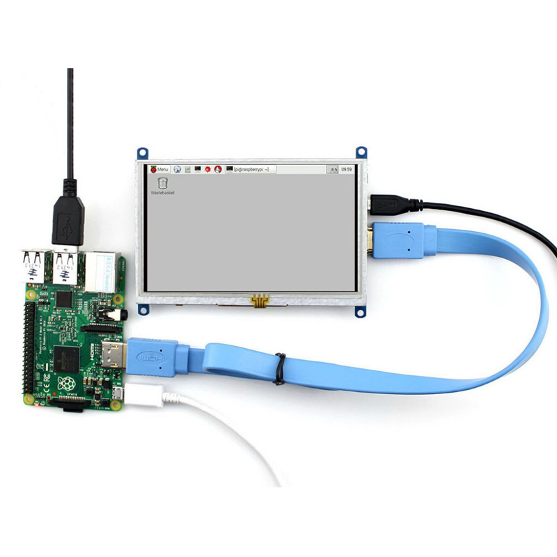 2018 800 480 5 inch LCD HDMI Touch Screen Display Module TFT LCD For Raspberry Pi