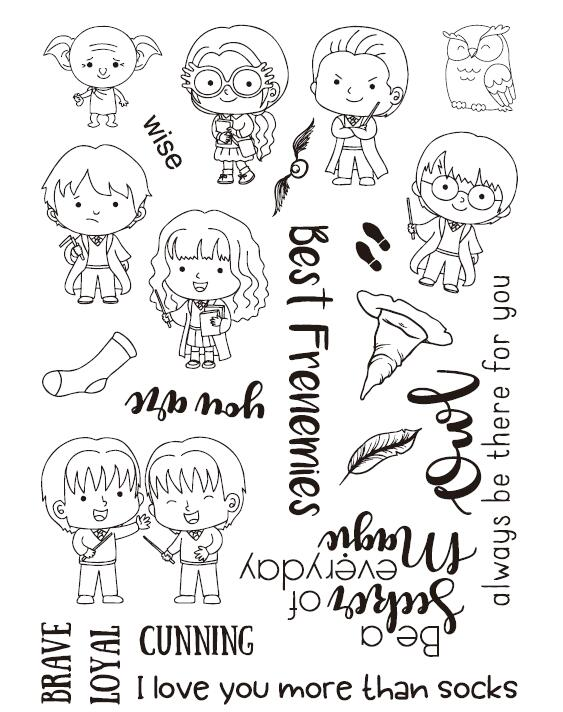 Magician Transparent Clear Silicone Stamp Seal DIY Scrapbooking photo Album Decorative Clear Stamp A325 about lovely baby design transparent clear silicone stamp seal for diy scrapbooking photo album clear stamp paper craft cl 052