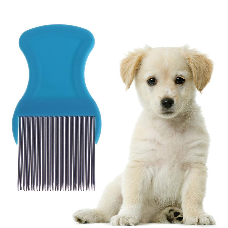 Stainless Steel Lice Comb Cat Dog Flea Remover Hair Combs Pet Hairbrush Pet Clean Tools Super Density Teeth Remove Nits Comb