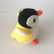 Fashion 10CM Penguin Plush Toy Fluffy Faux Fur Key Chain Ring Pompon Keychain Women Bag Charms Jewelry Wedding Trinket Love Gift все цены