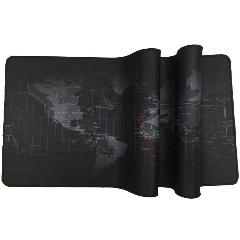 Image 3 - Extra Large Mouse Pad Old World Map Gaming Mousepad Anti slip Natural Rubber Gaming Mouse Mat with Locking Edge-in Mouse Pads from Computer & Office