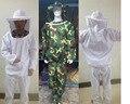 Chaqueta apicultura Velo Conjunto Camuflaje Anti-abeja Ropa de Seguridad de Protección de Suministros de Equipos de Apicultura Smock Traje de Chaqueta + Pant