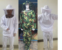 Nghề nuôi ong Jacket Mạng Che Bộ Ngụy Trang Chống-bee An Toàn Bảo Vệ Quần Áo Smock Thiết Bị Nguồn Cung Cấp Nuôi Ong Phù Hợp Với Áo Khoác + Quần