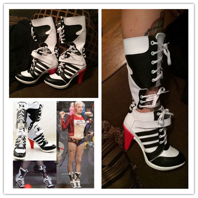 Zapatos Cosplay Suicidio Botas De Escuadrón Harley Halloween Quinn ZXUCWxwSq