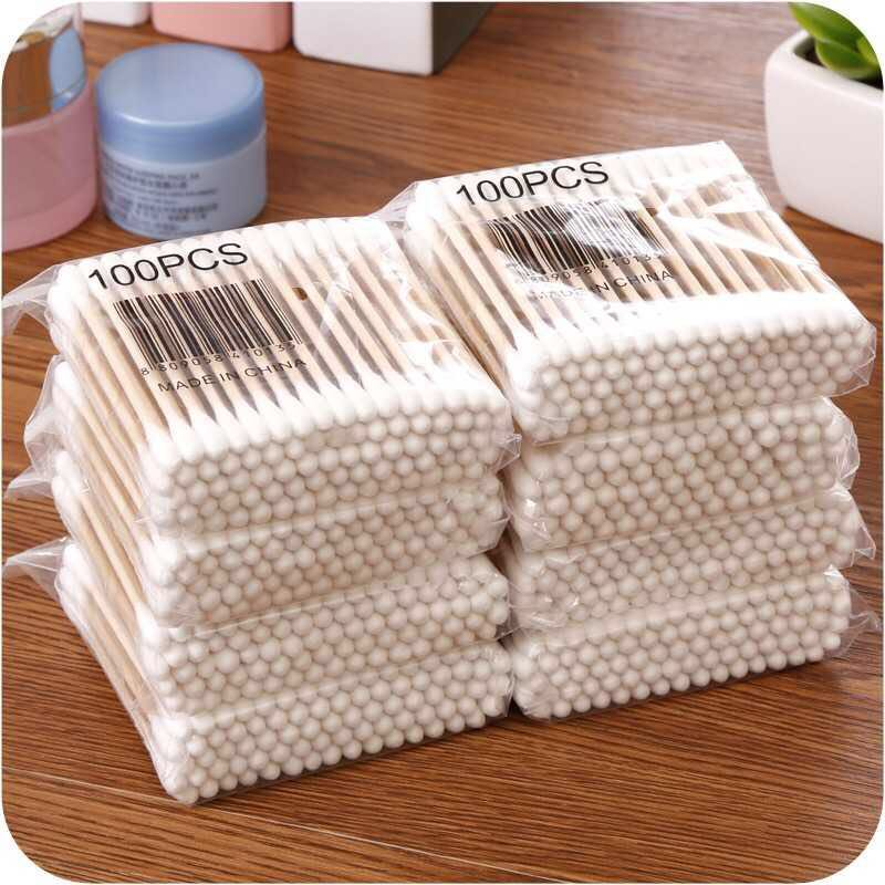 600pcs/Pack Bamboo Cotton Buds Cotton Swabs Medical Ear Cleaning Wood Sticks Makeup Health Tools Tampons Cotonete