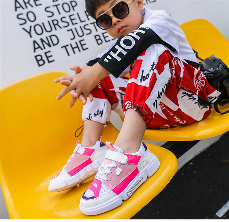 2019 Autumn New Girls Sneaker Kids Shoes Fashion Breathable Pink Leisure Sports Running Shoes For Boys Brand Casual Children Shoes (14)