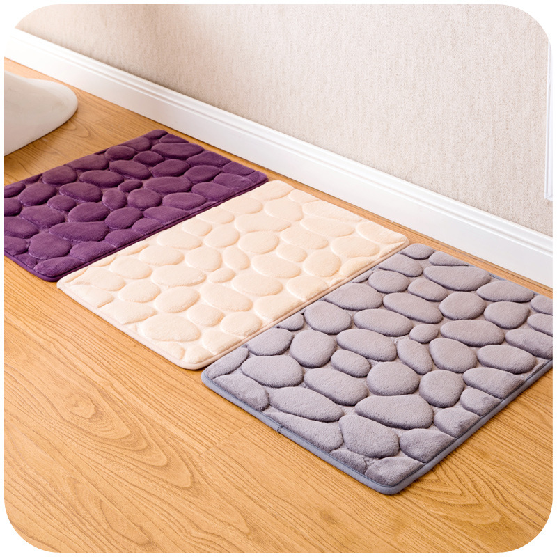 3d stone nonslip bathroom carpet bathroom toilet mat accessories bathroom rug 3 colors banyo paspas tapis salle de bain - Bathroom Carpet