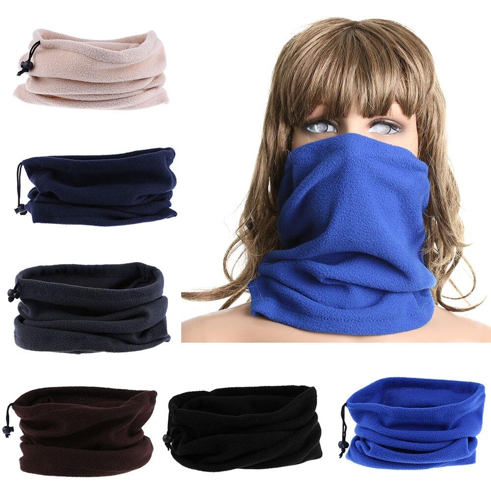 3 In 1 Multifunktions Fleece Thermische Winter Hals Wärmer Schal Gesicht Maske Unisex Männer Frauen Polyester Snood Schal Beanie Balaclava