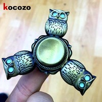 Newest Personality Fidget Spinner Owl Shape Luminous Hand Toys For Autism And ADHD Adults Gifts Hand