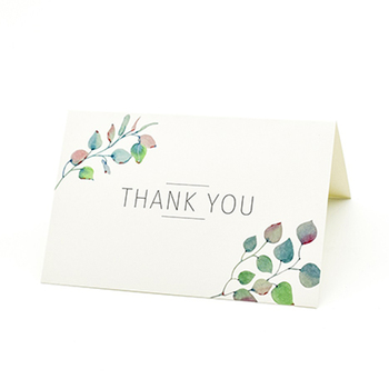 Thank You Cards: 36 Assorted Boxed Pack - Elegant Floral Green & Black & White Card Designs: Bulk Note Box for Graduation, Wed