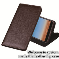 LJ16 Genuine Leather Flip Cover Case For Lenovo PHAB 2 Plus(6.44') Phone Case For Lenovo PHAB 2 Plus Leather Flip Case