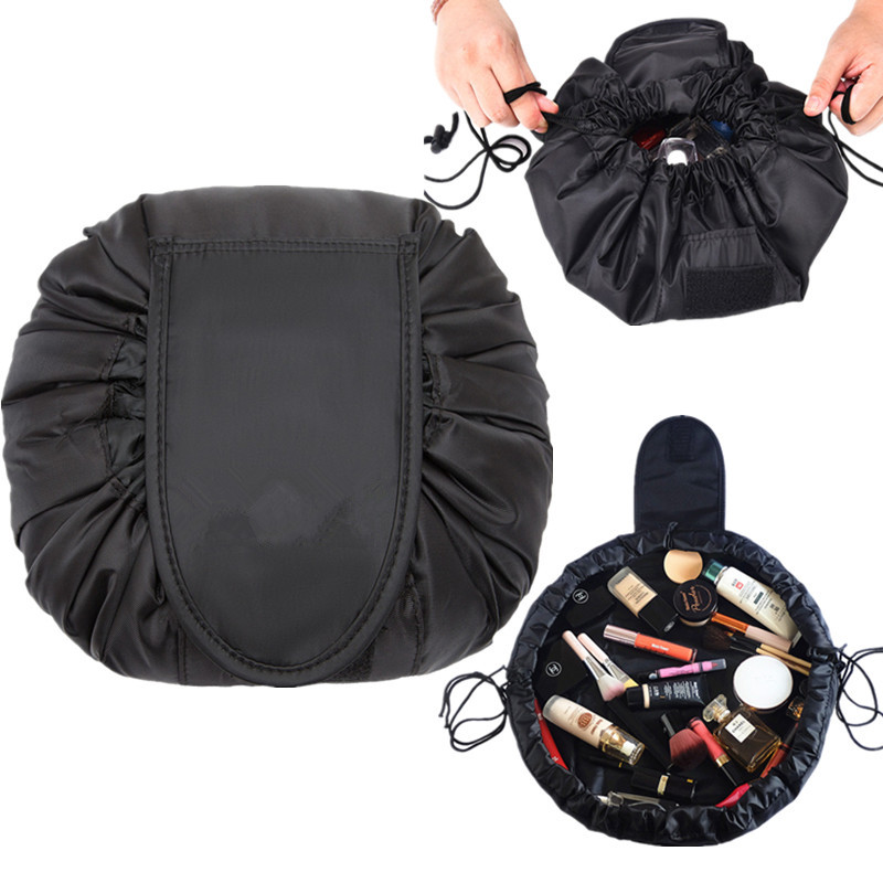 Women Magic Drawstring Cosmetic Bag Fashion Travel Beauty Vanity Makeup Bag Organizer Case Wash Storage Pouch Toiletry Kit Box solid color fashion cosmetic bag ladies portable travel necessary markup pouch storage beauty tools accessories supply products