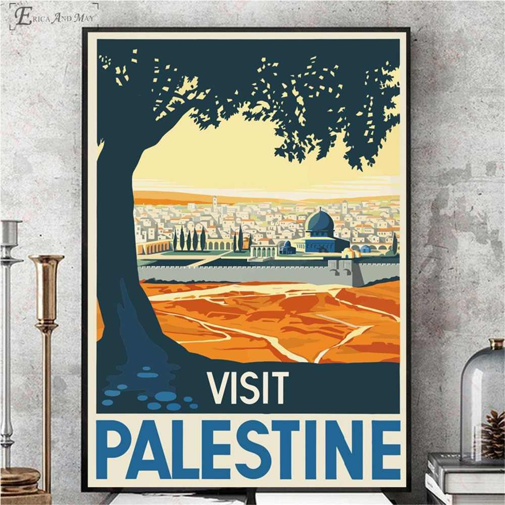 Visit Palestine Peru Landscape Vintage Canvas Prints Modern Painting  Posters Wall Art Pictures For Living Room Decoration