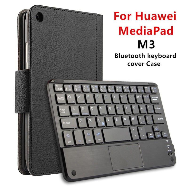 Case For Huawei MediaPad M3 8.4 inch BTV-W09 DL09 Protective Tablet PC Wireless Bluetooth keyboard with touchpad PU Leather mediapad m3 lite 8 0 skin ultra slim cartoon stand pu leather case cover for huawei mediapad m3 lite 8 0 cpn w09 cpn al00 8