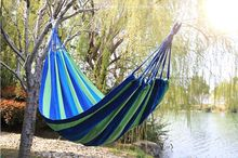 185*80cm 1 person Hammock outdoor travel Leisure bed hanging bed double sleeping canvas swing hammock camping hunting 3 Color