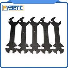 5 шт. 3D-принтеры Запчасти 5 в 1 ключ, дюймовый стандарт оставаться 5,7 мм до 20,2 мм Сталь гаечный ключ многофункциональный ключ, дюймовый стандарт плоский гаечный ключ для E3D MK8 MK10 сопла