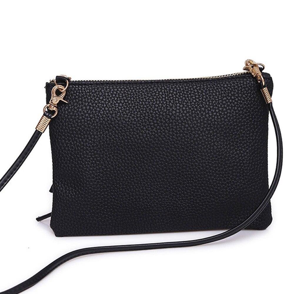 Bag Shoulder-Bag Fashion Handbag Women Tote Ladies Purse Trend-Style Solid-Color Medium