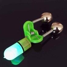 New 4Pcs/Lot LED Fishing Rod Bite Alarm Blue Light Twin Fishing Bells