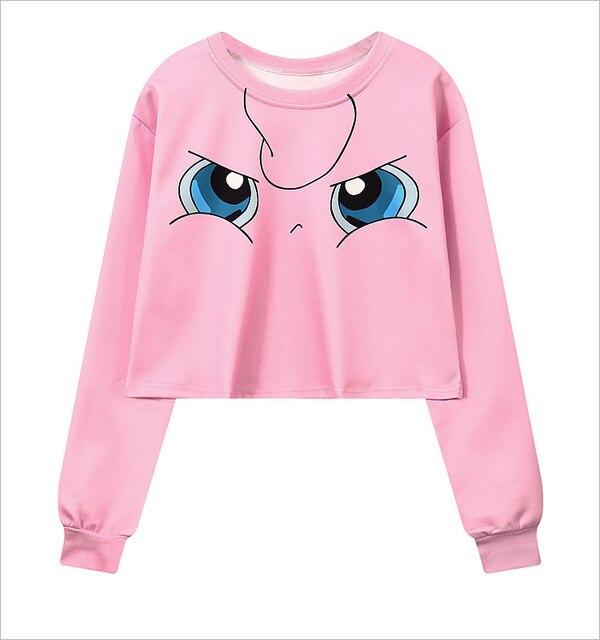 3d4c461b9e357 Amrican fashion women Autumn clothes girls sweatshirts crop pullovers  cartoon print girls outwears wholesale drop shipping