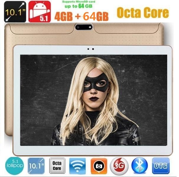 10 inch 3G tablet pc Android 7.0 Octa core 1280*800 5.0MP 4GB 32GB Bluetooth dual sim cards GPS 7 9 10 tablets(China)