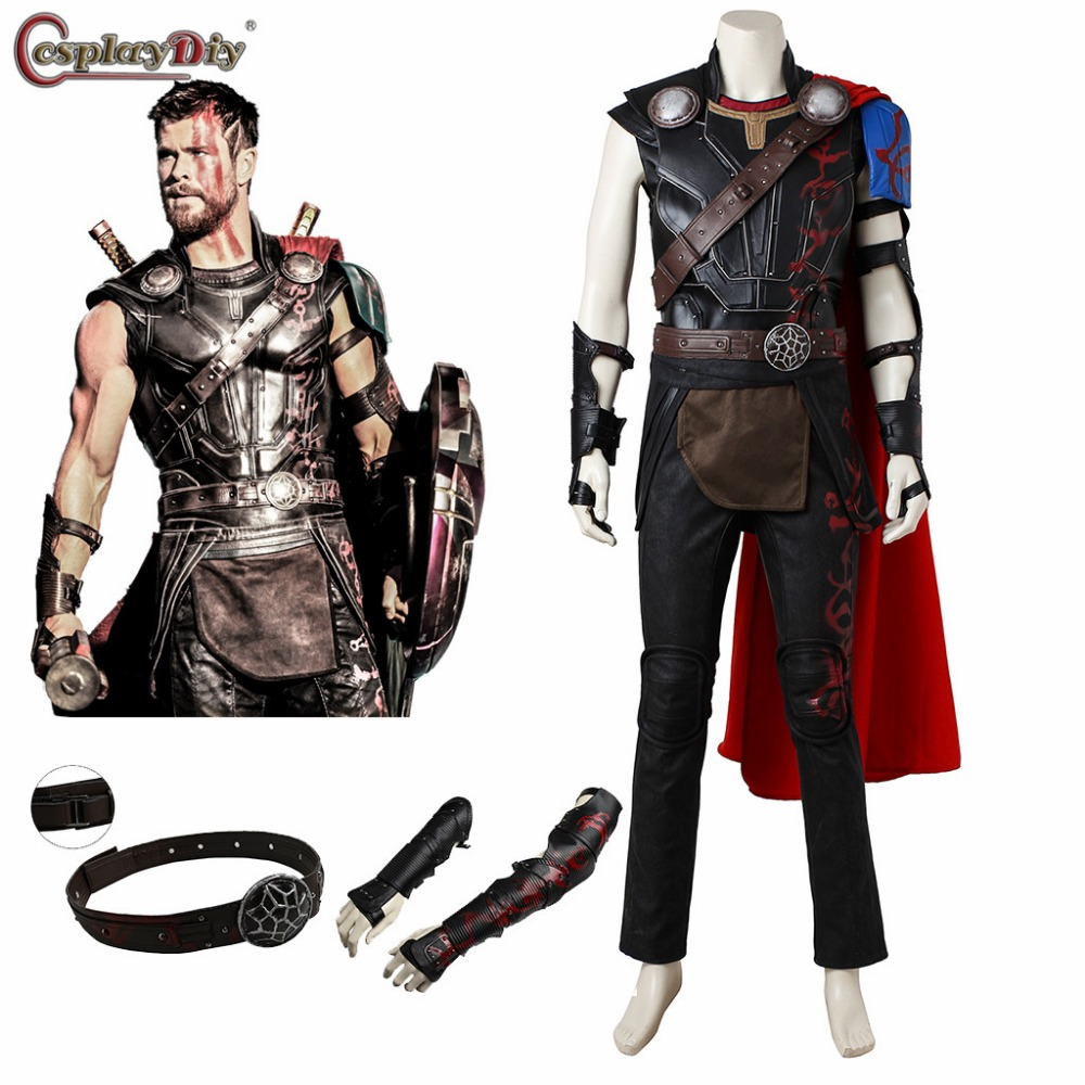 Thor Ragnarok Odinson Costume Thor Cosplay Outfit Adult Men Halloween Costumes SuperHero Thor 3 Cosplay Clothes