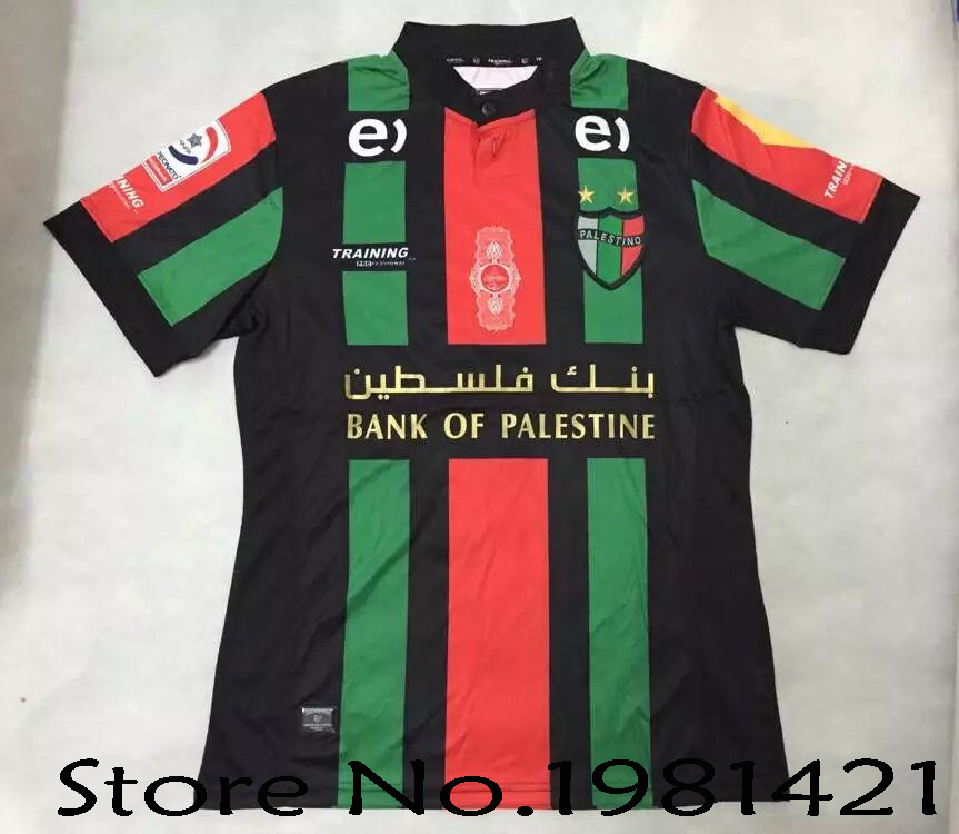 Palestine Chile football club Team 2016 2017 CD Palestino Home Away Jersey  Map of Palestine Maillot Rare Soccer Jersey-in Soccer Jerseys from Sports  ... f60289acb
