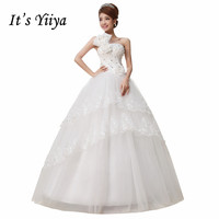 Free Shipping Flower One Shoulder Sequins Wedding Dresses Cheap White Bridal Frocks Custom Made Vestidos De