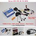 Para Volvo XC70 C70 V70 XC 70-Sensores de Estacionamento + Retrovisor Do Carro View Camera Back Up = 2 em 1 Visual/Alarme BIBI Estacionamento sistema