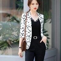 2019 New casual jackets women girl half sleeve blazer white brown striped female blazers coat