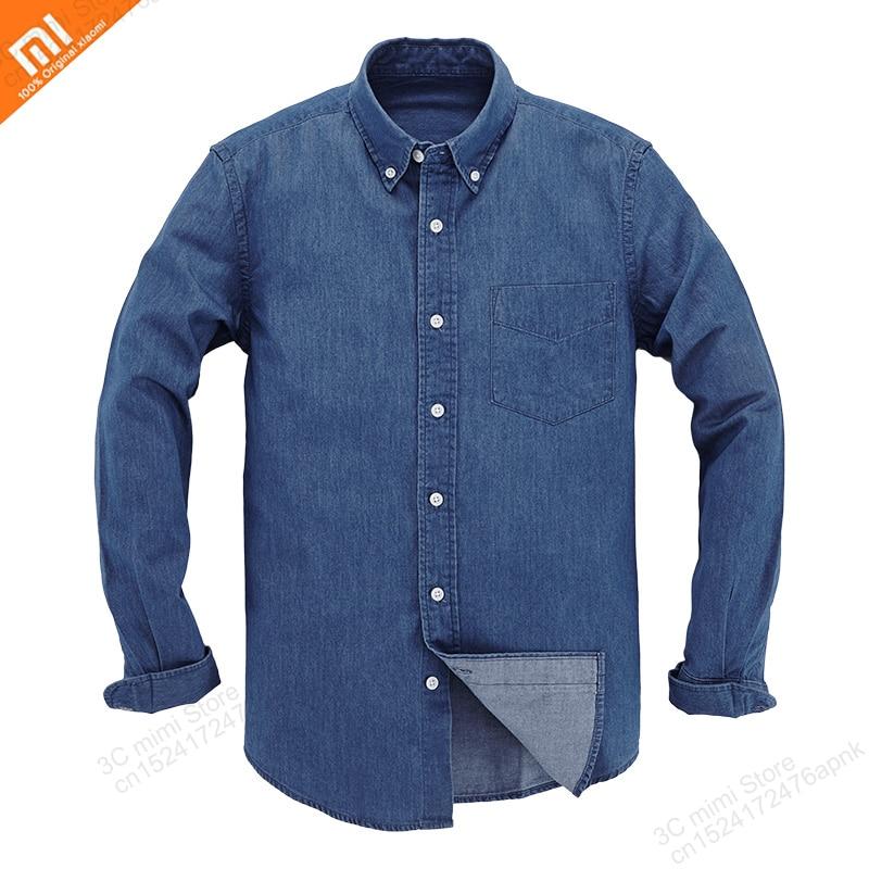 Xiaomi Mijia New casual men s shirt summer foundation cotton denim shirt long sleeve loose jacket